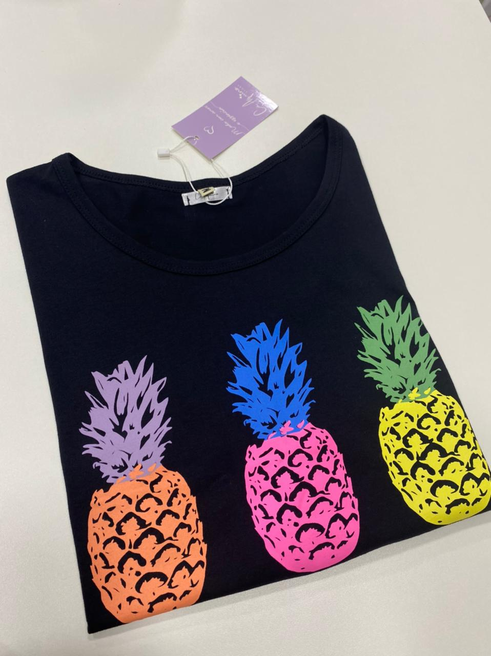 Tee cropped Abacaxi