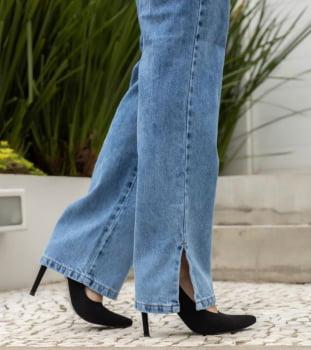 Calça wide leg slim