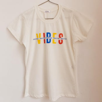 T shirt positive vibes